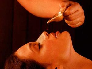 Nasya Treatment at Ayurvedic wellness centre